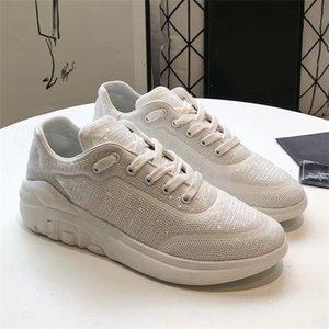Роскошные Мужчины Женщины вышитые блестками кроссовки дизайнерская обувь на платформе мода девушка блестящая шнуровка плоские открытые повседневные кроссовки 7 цветов