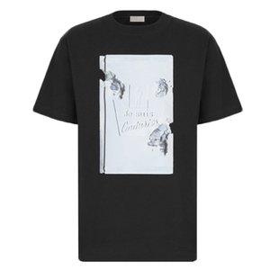 20SS de gama alta del cartel 3D Libro Impreso tee verano mujeres de los hombres de cuello redondo simple camiseta de manga corta Calle viaje tee transpirable HFYMTX874