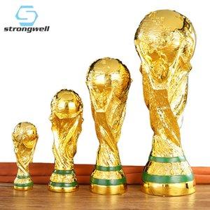 Strongwell Futbol Ödülü Trophy Heykel Dünya Hercules Kupası Reçine Meslekler Ev Dekorasyon Aksesuarları Modern Boy Doğum Hediye T200619