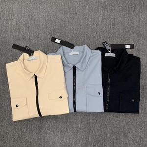 2020 konng gonng الربيع والخريف جديدة رقيقة أزياء قميص سترة العلامة التجارية عارضة الرجعية سترة واقية COMPANY CP topstoney PIRATE