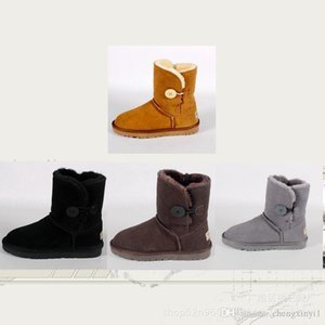 Novo adulto botas no inverno de 2019 fivela de pelúcia feminina quente e puro cor sapatos sapatos de balé botas Homens e mulheres com golpe