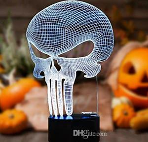 3D Punisher Skull Lighting Nightlight con un bagliore morbido per i bambini. Queste luci fanno bellissimi regali