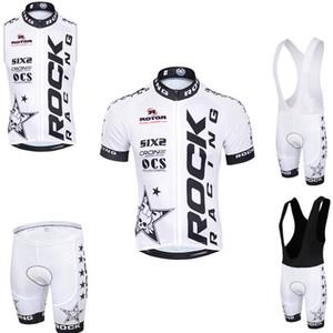 ROCK RACING équipe d'été hommes cyclisme manches courtes / sans manches cuissard / short respirant jersey de sports de plein air ensembles S8834