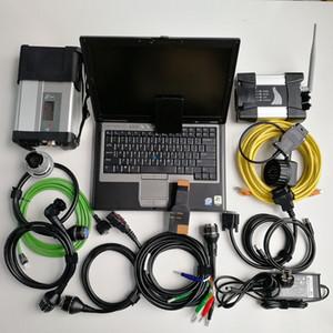 Preço de fábrica 2in1 Usado Laptop Computador D630 Carro Ferramenta de diagnóstico + MB Estrela C5 SD Connect C5 SD Compact 5 + para BMW WiFi ICM Next + 1TB SSD