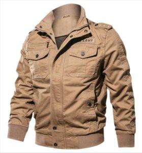 Herren Designer Jacken Marke Air Force One Herren Luxus Kleidung Armee Stehkragen Mantel Oberbekleidung Militär Dünne Herren Jacken Mantel M-6XL 007