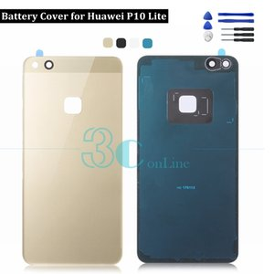Para Huawei P10 Lite Volver Cubierta de batería Cubierta de plástico + PC de plástico para Huawei Nova Repuestos de repuesto para jóvenes 3M Pegamento