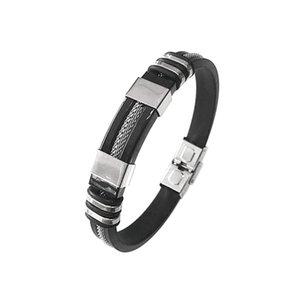 Men Bracelet Male Bracelets Exquisite Boy Chain Universal Silicone Stainless Steel Men Bracelet Eye-Catching Ornaments
