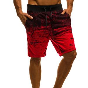 LOOZYKIT Men Casual Shorts Fashion Printed Joggers Short Sweatpants 2019 Summer Drawstring Hip Hop Slim Workout Shorts Plus Size
