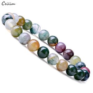 2019 pulseras de piedra natural para hombres, mujeres, múltiples colores, 8 mm, cuentas hasteadas, cuarzos, cuentas redondas, estiramiento, pulsera, brazaletes, joyería