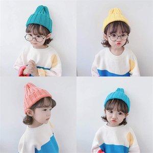 Aquecer bebê Chapéus de Inverno para crianças As crianças fizeram malha Baby Boy Cap crianças Meninas Chapéus Casquette capota do bebê Atacado Moda bonito