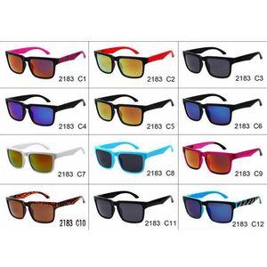 Diseñador de marca Gafas de sol Moda Hombres Marco cuadrado Conducción Gafas de sol Trasas Todas las gafas de marca deportivas negras 12 colores 2183
