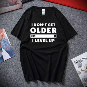 İleri yaştaki Uzm Seviye Yukarı Komik t shirt Do not Get Yenilikçi Sloganı Unisex Pamuk Tişört Yaz Moda Camisetas Hombre Tee gömlek