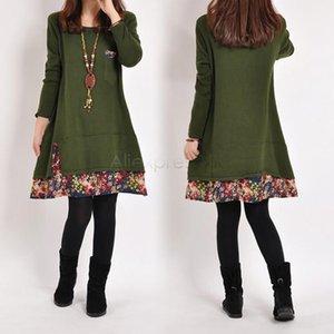 임신을위한 새 드레스, 느슨한 플러스 사이즈 여성 가을 겨울 두꺼운 캐주얼 드레스 Vestidos Roupa Gestante 31