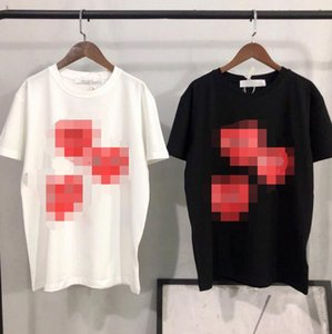 2020 new European and American trend play small red heart couple dress high-quality short-sleeved T-shirt men and women love fashion T-shirt
