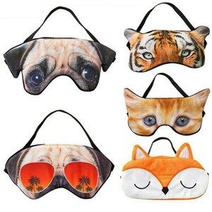 3D Cartoon Animal Dormir Eye Mask macio bonito Sombra acolchoado sono Eyepatch Tampa Resto Relaxe Eyeshade Blindfold Eye Care