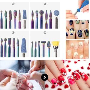 6pcs Nail Art Grinding broca prego Bits Elec-tric Máquina Diamante Bit Manicure Arquivos Elec-tric Milling Burr Grinder