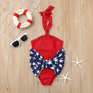 baby Girls bikini swimwear Polyester Baby Girls 4th of July Star Wrap Swimsuit Bikini Swimwear Bathing Suit 2019 F503