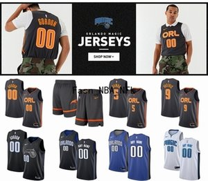Men Customize OrlandoMagic City 2020 Edition Basketball Jersey 20 Markelle Fultz 00 Gordon 5 Bamba 9 Vucevic 10 Fournier 1 Isaac Jersey