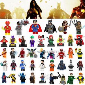 Super Heroes Justice League Figuren Spielzeug Superman Wonder Woman Flash Green Laterne Batman Legoings Superheld Spielzeug Geschenke Bat Man