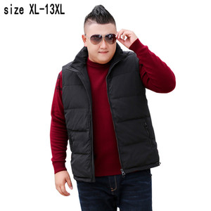 new arrival mens super large 11XL 12XL 13XL Men fashion Yards Down Jacket Vest White Duck Thick Loose Casual Sleeveless