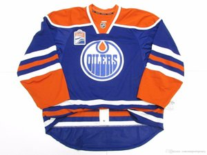 Cheap custom EDMONTON OILERS HOME INAUGURAL SEASON JERSEY stitch add any number any name Mens Hockey Jersey XS-5XL