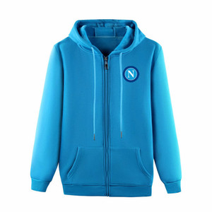 2020 SSC Napoli FuAll-Zip Hooded Jacket soccer Training Jacket football Hoodie Pullover Jacket soccer Sweatshirt coat Men's Jackets