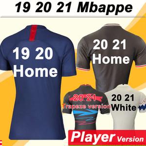 19 20 PSG Mbappé versão Jogador de Futebol CAVANI DI MARIA Casa Fora Homens camisas do futebol da Nova Verratti Matuidi Draxler Curto Maillots de pé