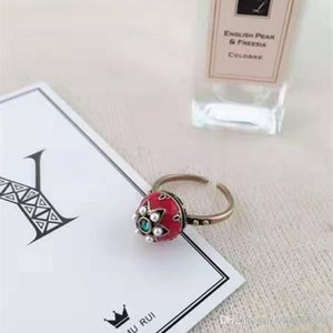 2020 new high-quality flower-shaped alloy ring heart-shaped ring fashion couple gift come with box set D ring
