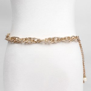 2019 New Gold Thin Metal Belly Chains Fashion Waist Chain Chains Aluminum Necklace Apparel & Accessories For Women