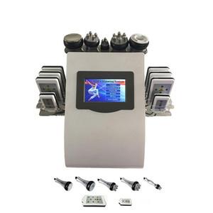 Hot portable 6in1 Lipo Laser Cavitation + RF Vakuum RF 40K Kavitation Vakuum Lipolaser Abnehmen Körpergewichtsverlust Maschine ups DHLFedEx