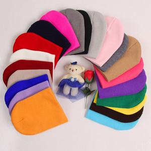 Moda Bebek Bere 21 Renkler Çocuklar Yumuşak Şapkalar Güzel Kız Candy Renkler Beanies Cap Açık Kış Seyahat TTA2124-1 Caps Isınma