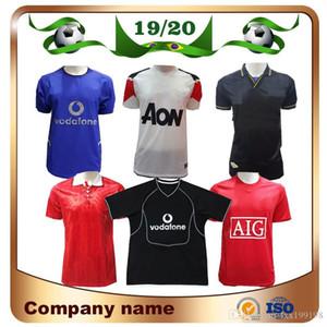 2000/2002 Retro Sürüm Siyah Futbol Jersey Pogba Rashford Lukaku Mata 1994 Kırmızı 02/04 07/08 10/11 Futbol Gömlek Klasik Futbol Üniforması