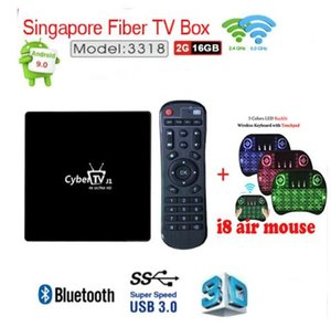 Singapore cable tv box Sta hub Fiber CyberTV J1 smart box 2 16g version 9.0 support BT4.0 2.4 5Ghz dual wifi