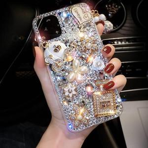 caso de telefone cheio de diamantes para iphone xs max 11Pro perfume volta garrafa abóbora cobertura para iphone7 8plus 6s