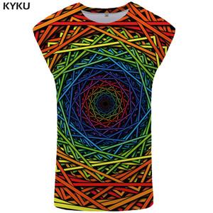 Felicidad marca de ciruelo sin mangas hombres ropa geométrica Ftness Vortex para hombre culturismo mareo Stringer colorido Singlet
