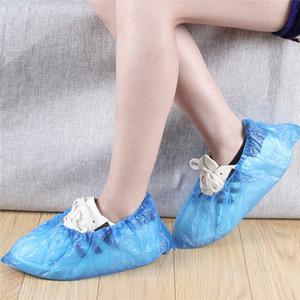 200/300 / 500pcs Shoes tampa da caixa de plástico descartável Anti Gota Pó chuva propés descartáveis Shoe Waterproof Capa Bolsa