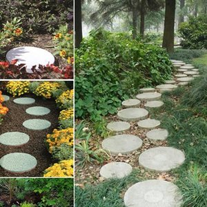 Garden Diy Round Plastic Mold Cement Brick Road Model Concrete Stepping Stone Other Garden Supplies