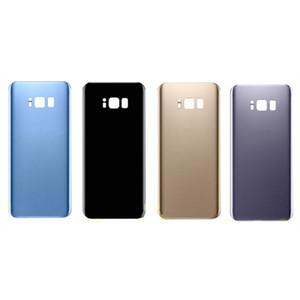 50pcs OEM Carcasa trasera Cubierta trasera de vidrio Puerta de la batería para Samsung Galaxy S8 S8 Plus + Adhesivo libre de dhl con logo