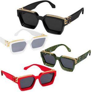 occhiali da sole di lusso mens Occhiali da Sole Millionaire piazza cornice d'epoca estate oro lucido stile lente UV400 marchio del laser di alta qualità Z1165W