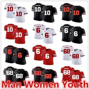 modifique para requisitos particulares NCAA Ohio State Buckeyes de fútbol camisetas de Ryan Shazier 10 Sam Taylor Hubbard 6 Decker 68 jersey de cualquier tamaño número nombre de S-5XL