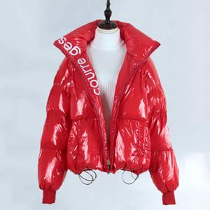 Chaqueta de Down de Mujeres para Mujeres Invierno 2019 ropa caliente grueso Puffer capa femenina de gran tamaño grande clasificado más Parka Prendas de vestir exteriores 535