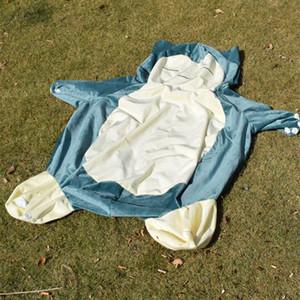 Grande taille 30/50 / 80 / 100cm Anime doux animal Snorlax poupée en peluche Jouets lit oreiller couverture seulement (pas de remplissage sans fermeture éclair) enfants cadeau LA208