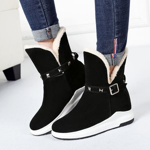 SARAIRIS New Fashion Hot Sale Add Fur Warm Winter Boots Woman Shoes Slip On Platform Mid Calf Boots Women Shoes Woman Footwear