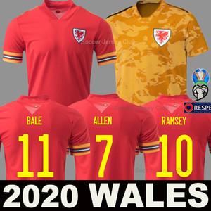Euro 2020 Wales Gales camiseta de fútbol Copa de Europa 20 21 BALE ALLEN James Ben Davies Wilson camisetas equipo nacional 2021 home maillot camiseta de fútbol