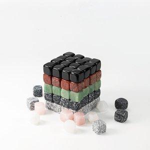 Pulver Kristall 7style Eiswein Stein Weinbar Artikel Block Eis Stein Obsidian Eisgeräte- Andere Bar Produkt T2I5811