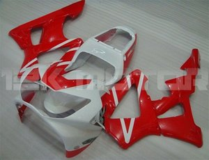 Горячие продажи новая литьевая форма ABS мотоцикл обтекатели комплекты подходят для HONDA CBR900RR CBR929RR 2000 2001 бесплатный пользовательский красный белый