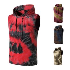 Gradiente para hombre jersey sudadera con chaleco ocasionales adelgazan las camisetas sin mangas de verano de hombres Ropa de diseño