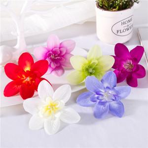 200pcs 8Colors fiore artificiale capo nuovi stili artificiale Orchid della seta del mestiere fiori per il matrimonio Natale Decorazione anello capo Wirstband