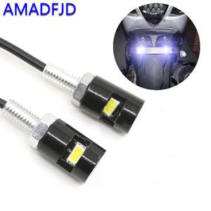 AMADFJD Car License Plate transformar a luz Car-Styling LED motocicleta sinal de luz Flashers Blinker Side Lamp Fit For Universo License