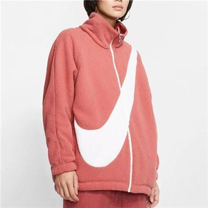 2019 NEW Double Side Fashion Mens Women Down Coat Sports Velvet Jacket Winter Cashmere Jackets Zipper Outdoor Hooded Windbreaker C B103491L
